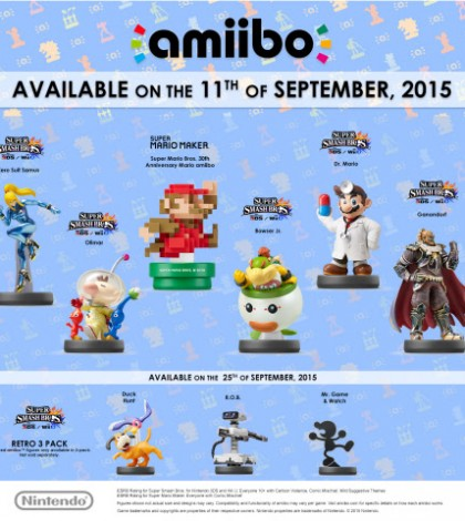 New Retro amiibo Figures Launching in September
