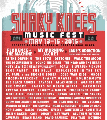 Shaky Knees Reveals 2016 Lineup