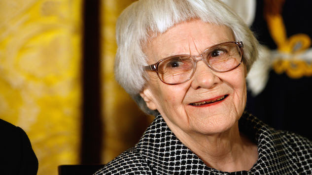 "WASHINGTON - NOVEMBER 05: Pulitzer Prize winner and ""To Kill A Mockingbird"" author Harper Lee smiles before receiving the 2007 Presidential Medal of Freedom in the East Room of the White House November 5, 2007 in Washington, DC. The Medal of Freedom is given to those who have made remarkable contributions to the security or national interests of the United States, world peace, culture, or other private or public endeavors.  (Photo by Chip Somodevilla/Getty Images)"