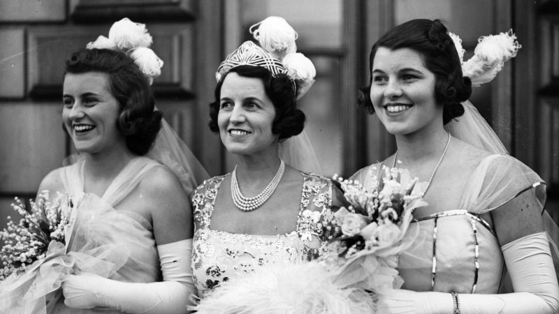 From right to left, Kathleen, Rose, and Rose Marie Kennedy in 1938.
