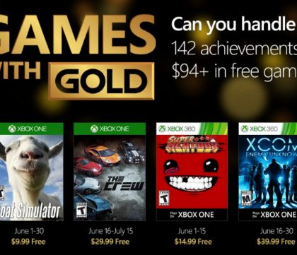 Xbox Live Games With Gold – June 2016