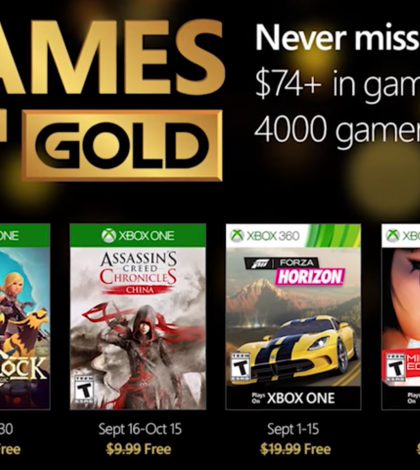 Games With Gold – September 2016