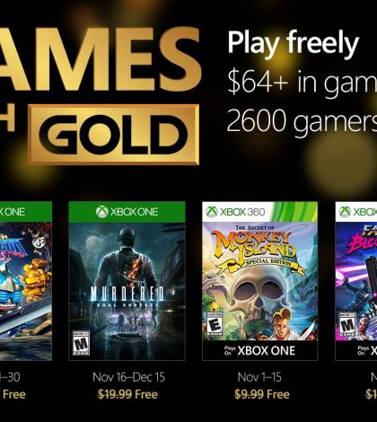 Games with Gold – November 2016